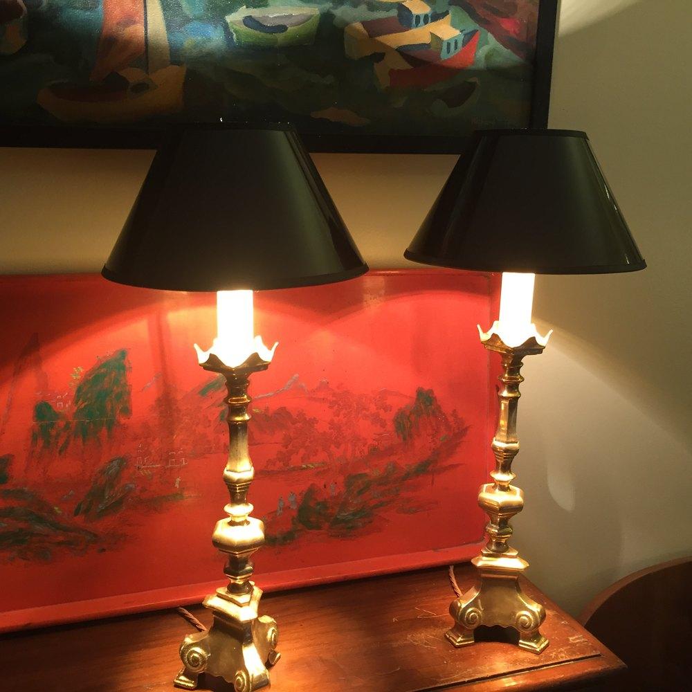 antiques atlas pair impressive arts and crafts table lamps. Black Bedroom Furniture Sets. Home Design Ideas