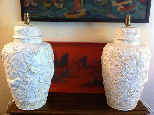 Antiques Atlas - Pair Large Oriental Table Lamps