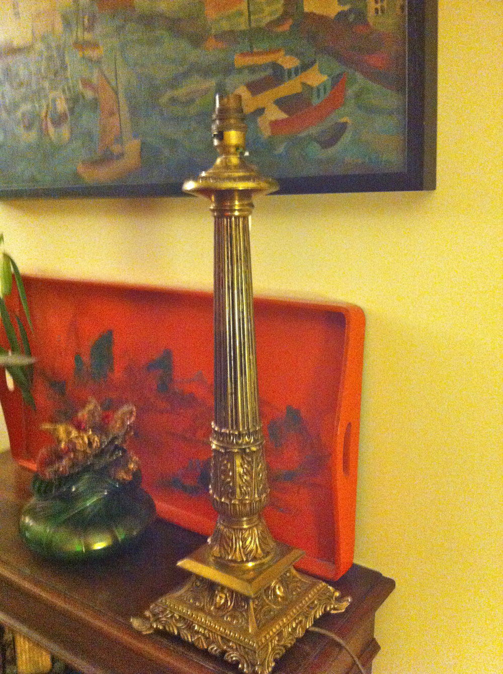 Antiques Atlas Tall Art Nouveau Table Lamp In Brass