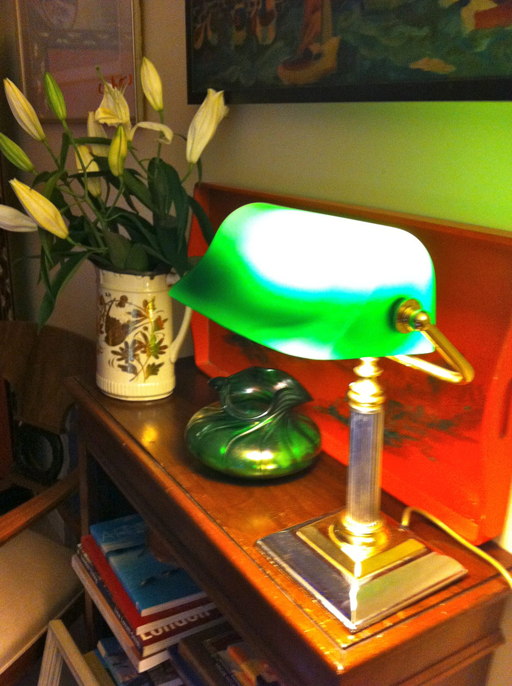 Vintage bankers desk lamp - Vintage Bankers Lamp Antique Lighting Antique Desk Lamps
