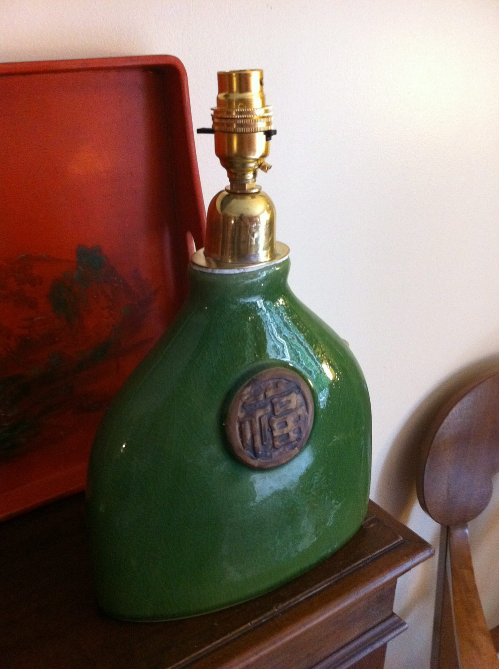 Antiques Atlas Vintage Green Oriental Ceramic Table Lamp