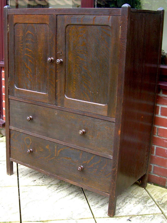 A Heals Rustic Oak Side Cabinet Antiques Atlas