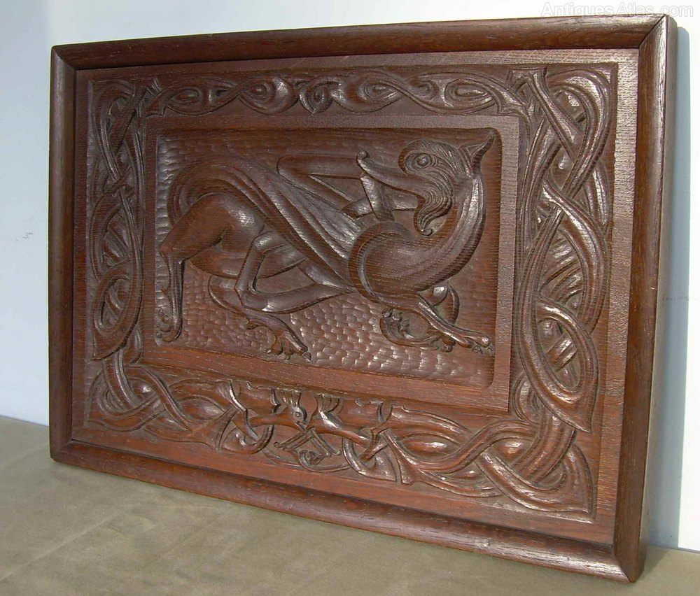 Antiques atlas a carved wood iona panel
