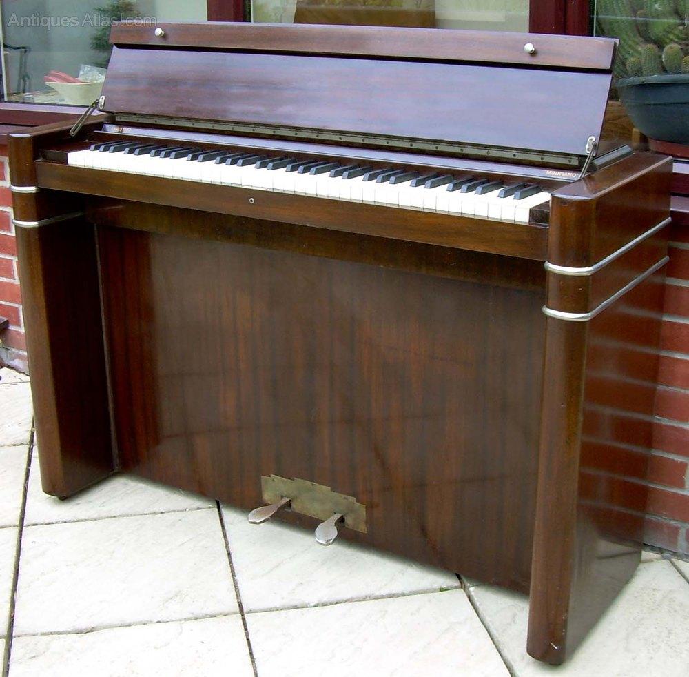 Antiques atlas a mahogany eavestaff mini piano for Smallest piano size