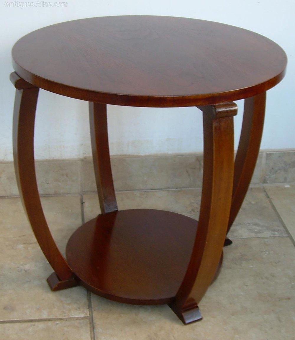 An Art Deco Walnut Coffee Table