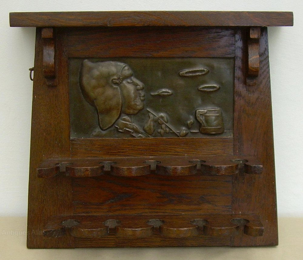 An arts crafts oak pipe rack antiques atlas for Jamaican arts and crafts for sale