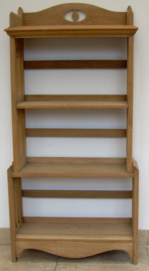 An oak arts and crafts bookcase antiques atlas for Arts and crafts bookshelf