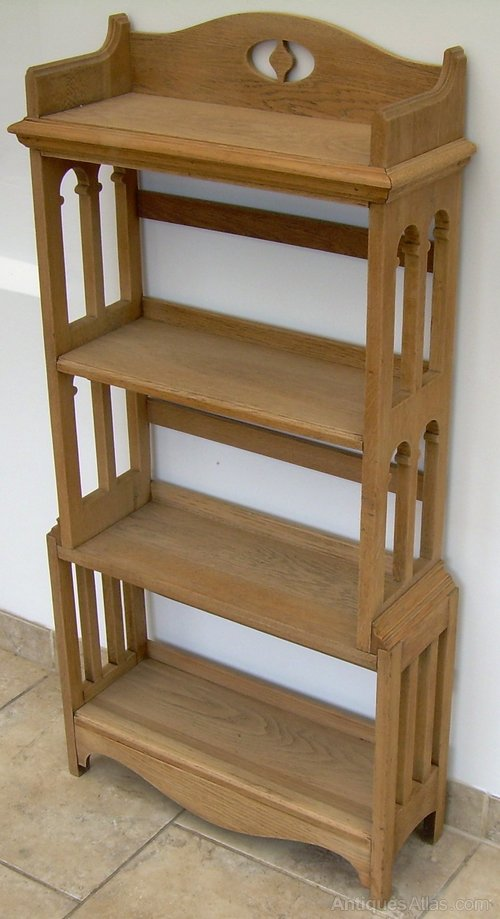 An oak arts and crafts bookcase antiques atlas for Arts and crafts bookcase
