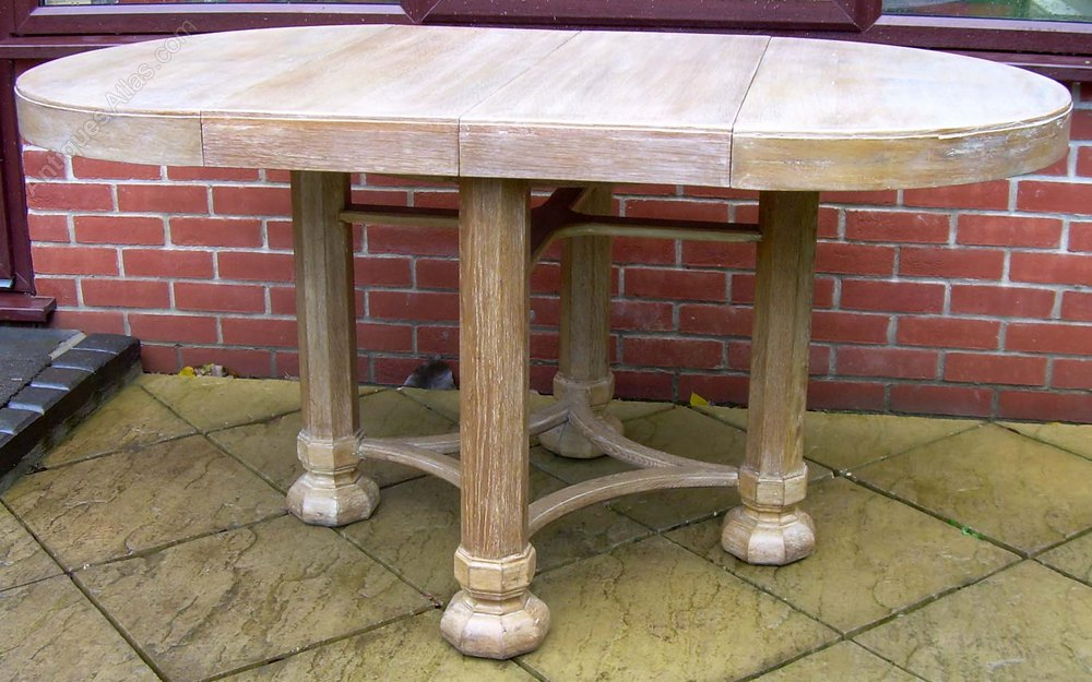 Heals gothic limed oak dining table antiques atlas - Limed oak dining tables ...