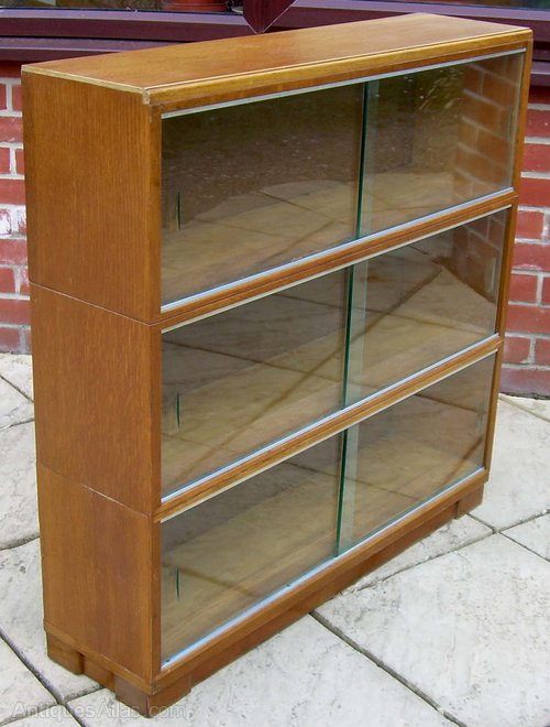 - Minty Glass Front Bookcase - Antiques Atlas