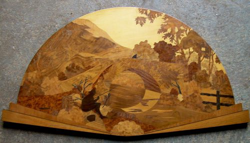 Antiques Atlas Rowley Gallery Marquetry Wall Panel