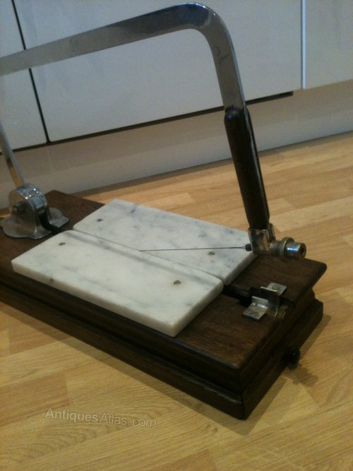 Antiques Atlas Beautiful Vintage Oak Amp Marble Cheese Cutter