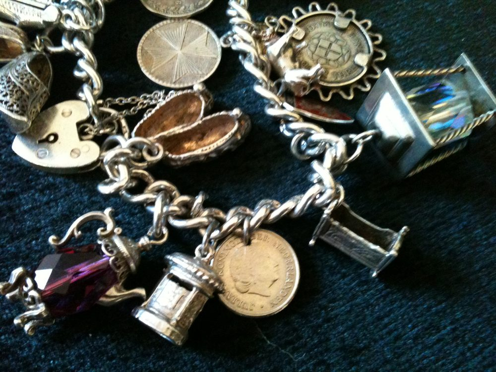 Antiques Atlas Vintage Solid Silver Charm Bracelet With