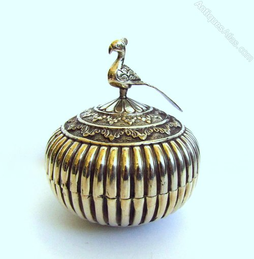 Antiques atlas decorative indian silver lidded bowl