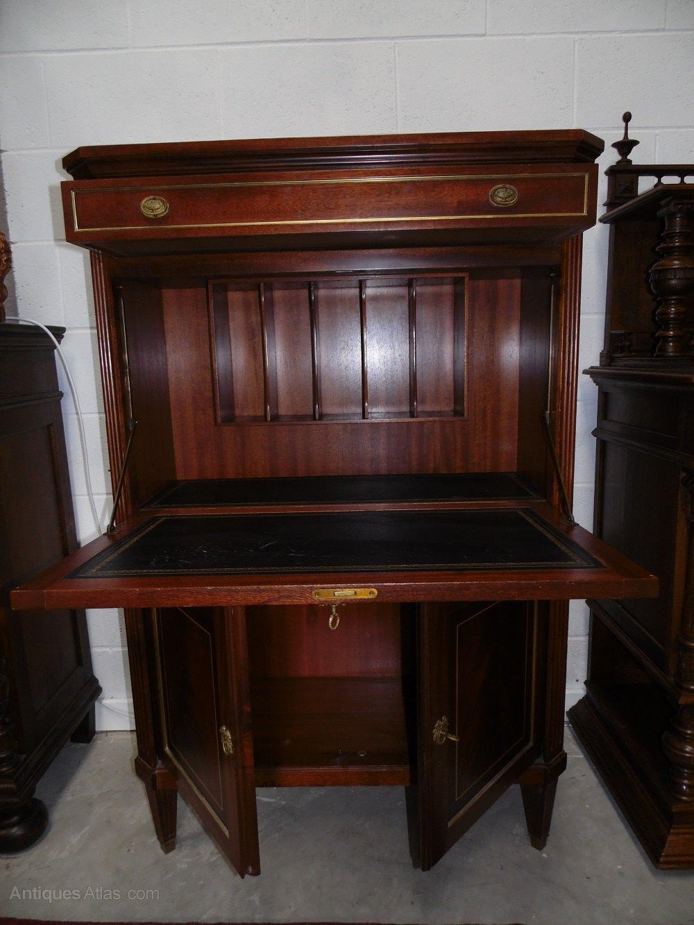 Fall Front Desk ~ Louis xvi drop front desk secretary antiques atlas