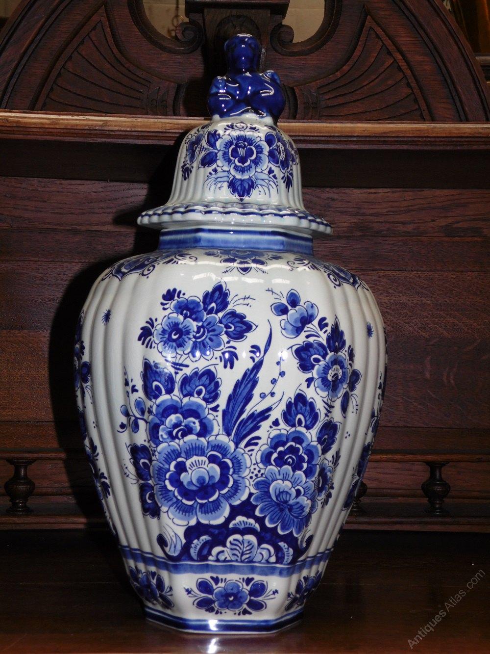 Antiques Atlas Vintage Delft Blue Ginger Vases