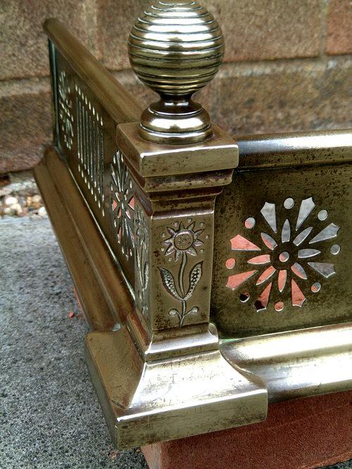 Antique Fire Fenders : Antiques atlas brass fire fender