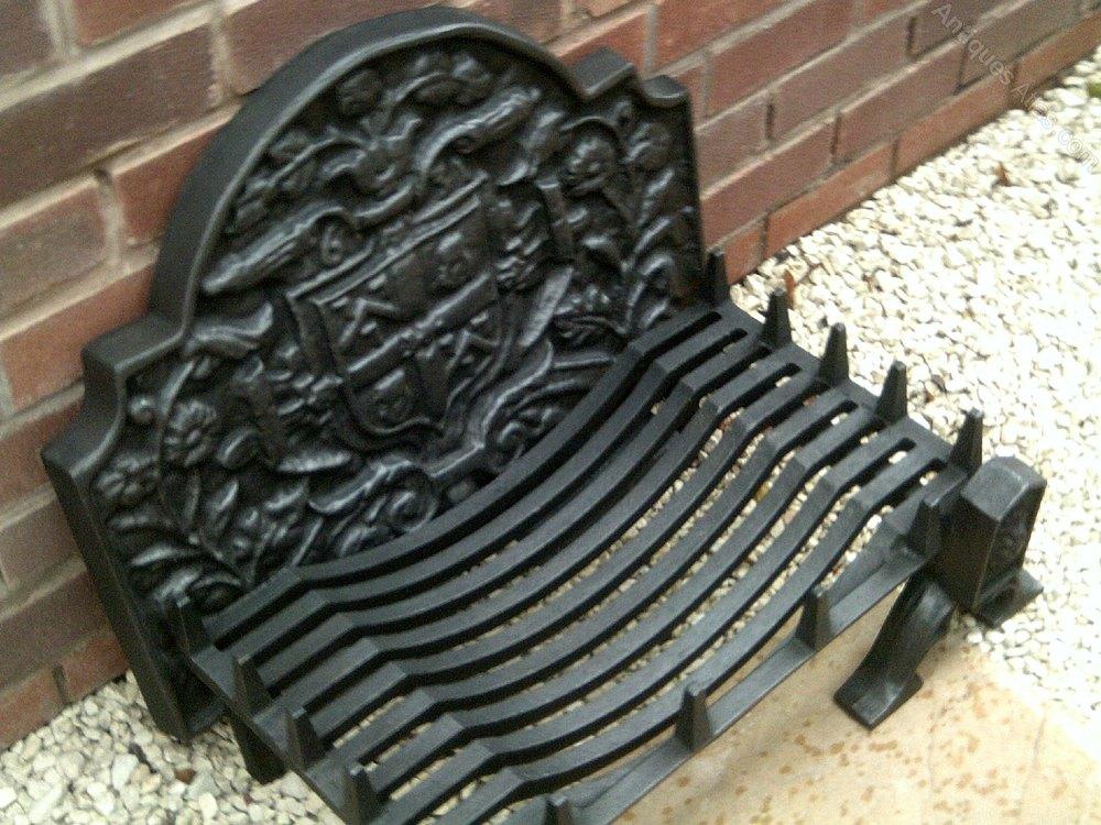 Antiques Atlas Cast Iron Fire Grate Cast Iron Fire Back