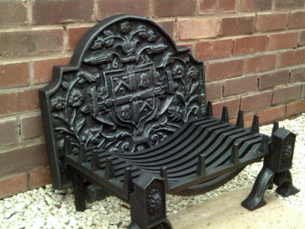 Antiques atlas cast iron fire grate back