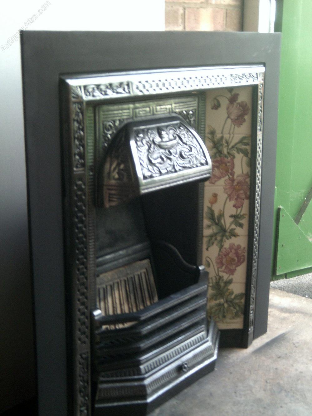 Antiques Atlas Cast Iron Tiled Fireplace