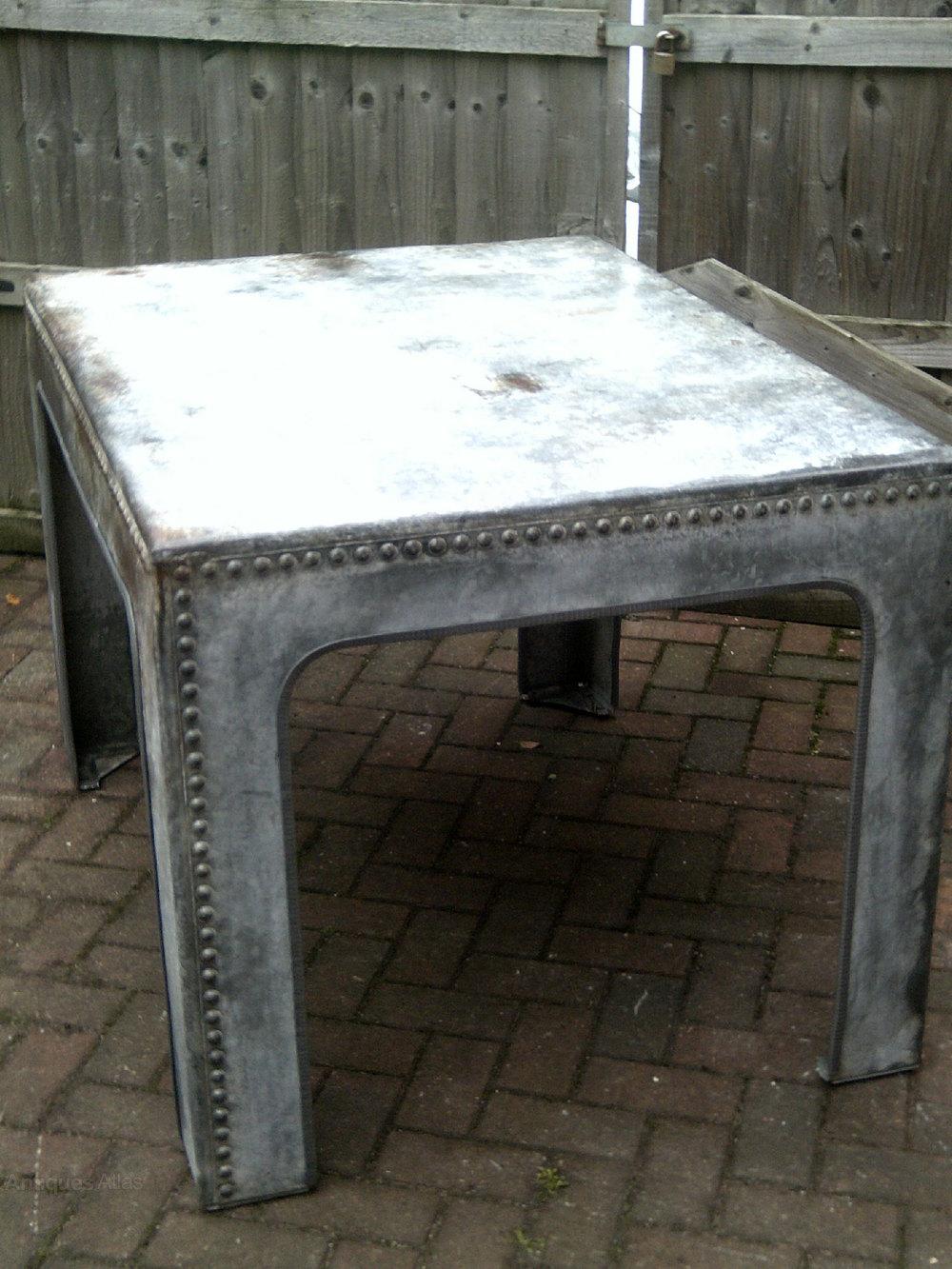 Antiques Atlas Steel Riveted Industrial Table