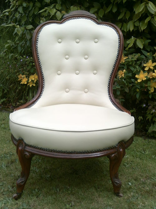 - Victorian Leather Nursing Chair - Antiques Atlas