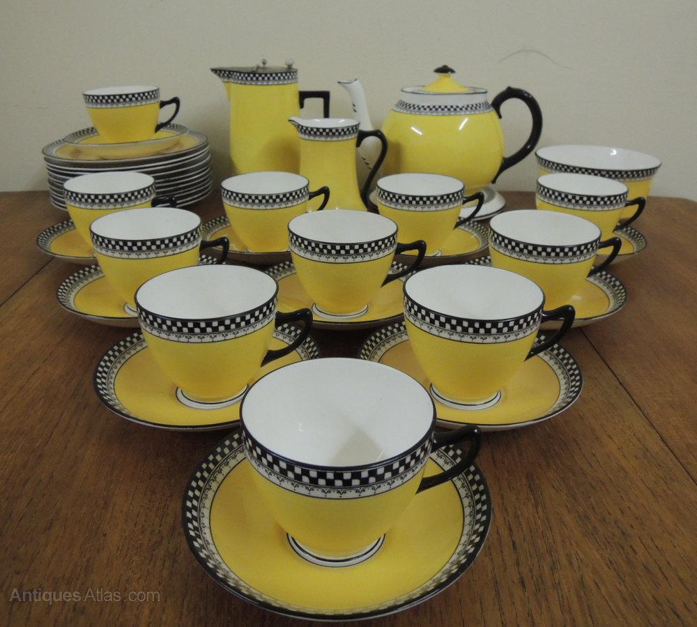 Antiques Atlas Colclough Royal Vale Art Deco Tea Set