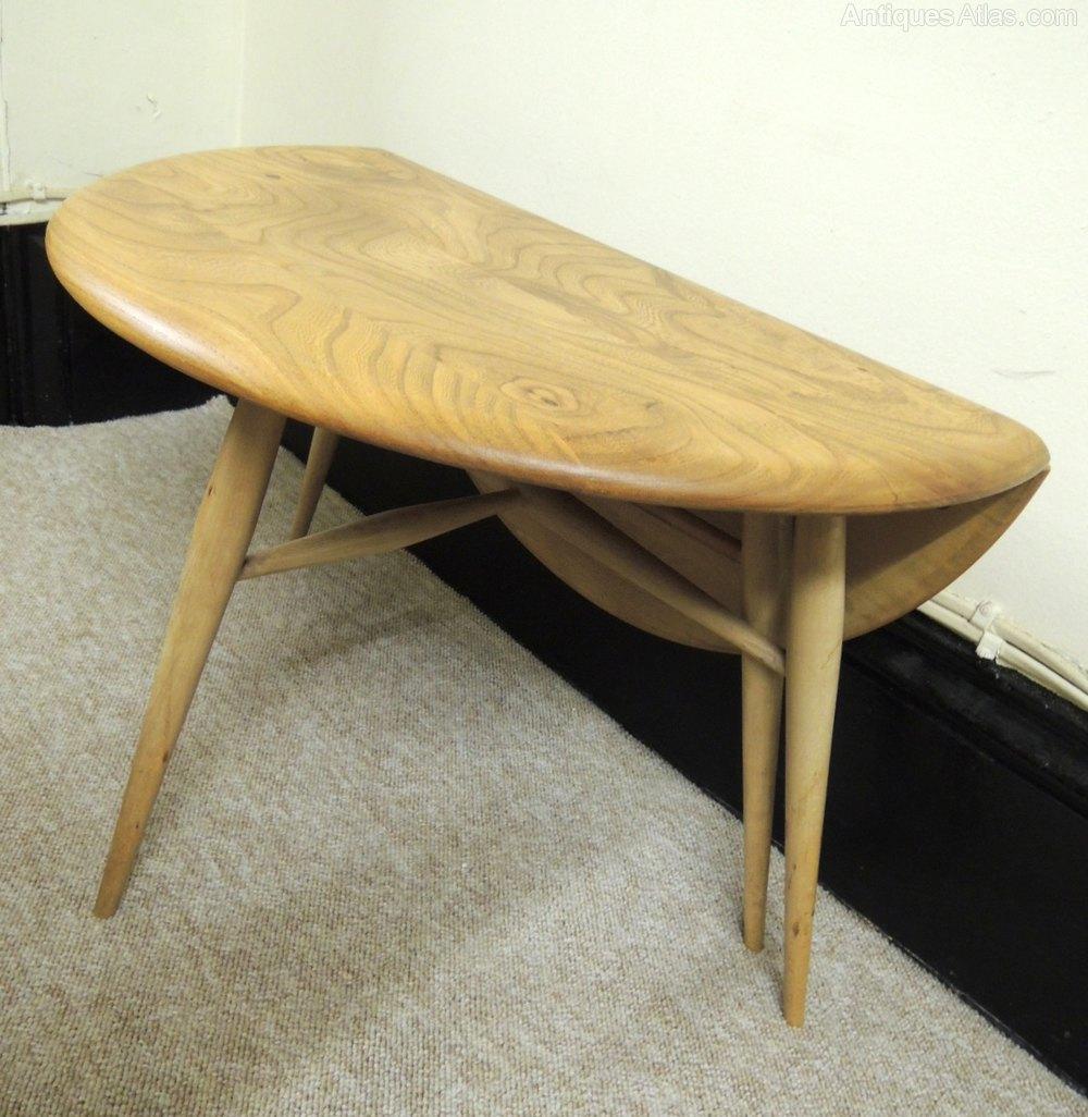 Walnut Auberon Folding Drop-Leaf Dining Table