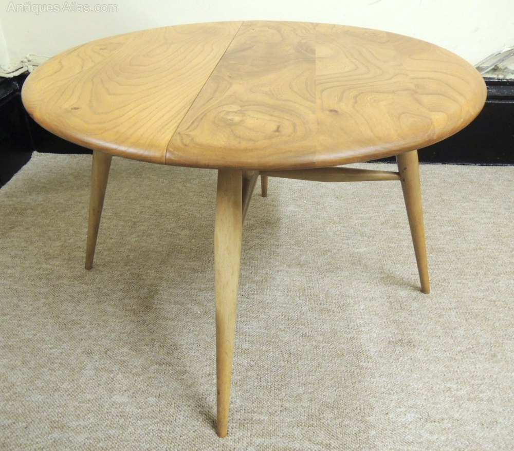 Vintage Ercol Coffee Tables For Sale: Ercol Drop Leaf Coffee Table