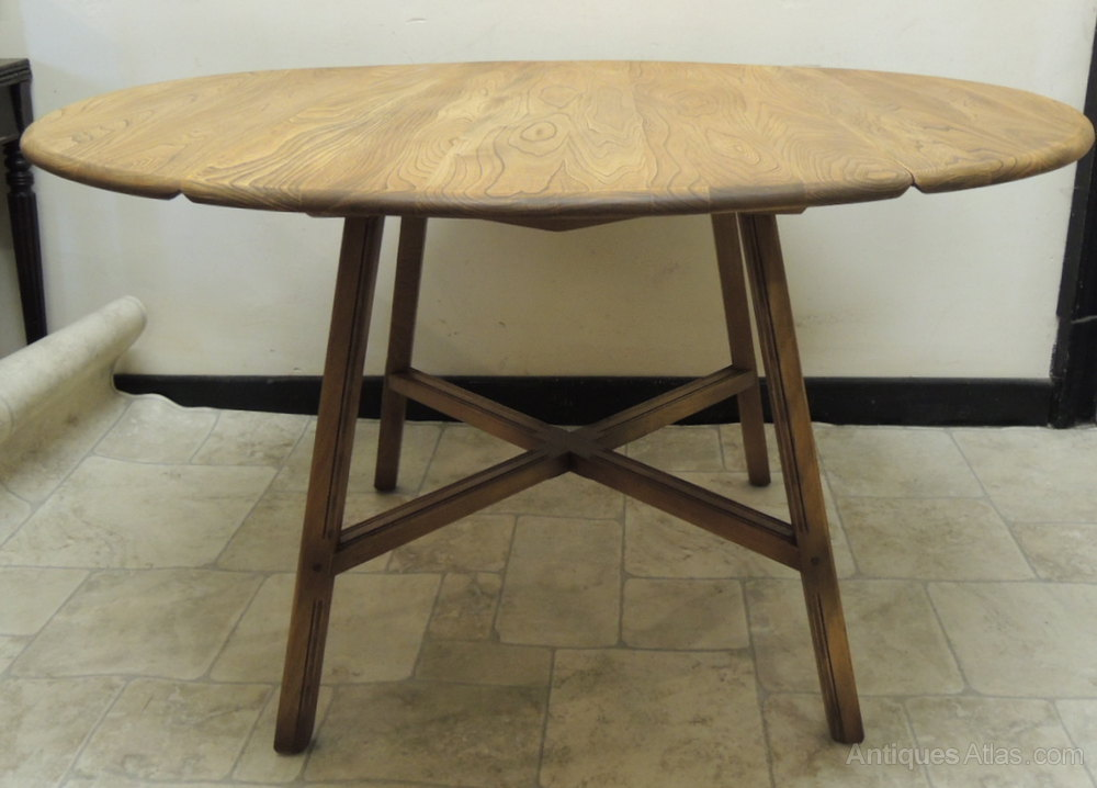 Antiques atlas ercol drop leaf dining table for Drop leaf dining table