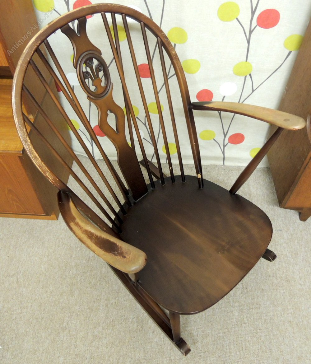 antiques atlas retro ercol rocking chair dark