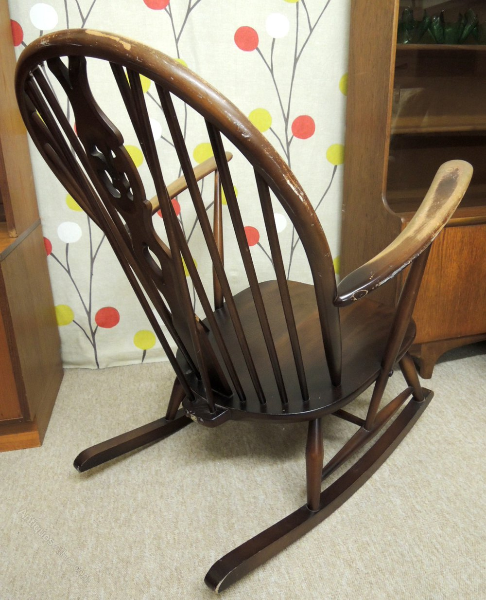 retro ercol rocking chair dark price sold category furniture post 1940