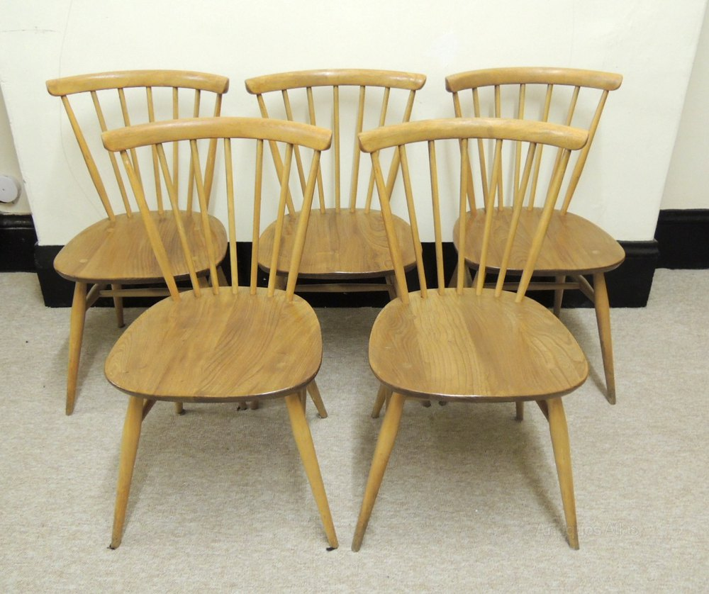 Antiques Atlas Retro Ercol Set Of 5 Windsor Dining Chairs