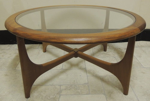 Antiques atlas retro nathan glass top coffee table - Glass coffee tables for small spaces gallery ...