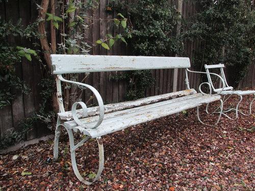 Good Edwardian Garden Bench Antique Garden Benches