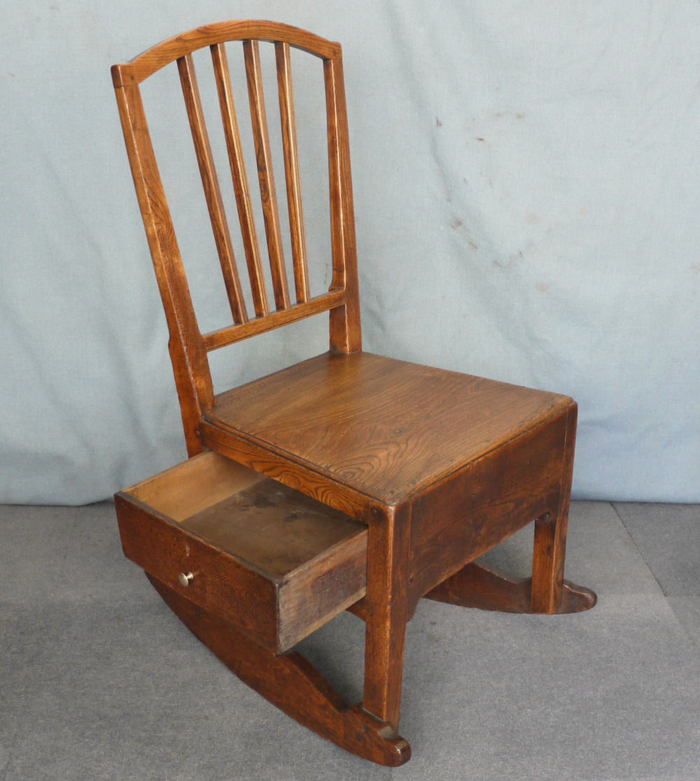 Elm Nursing Rocking Chair Antique Chairs Country