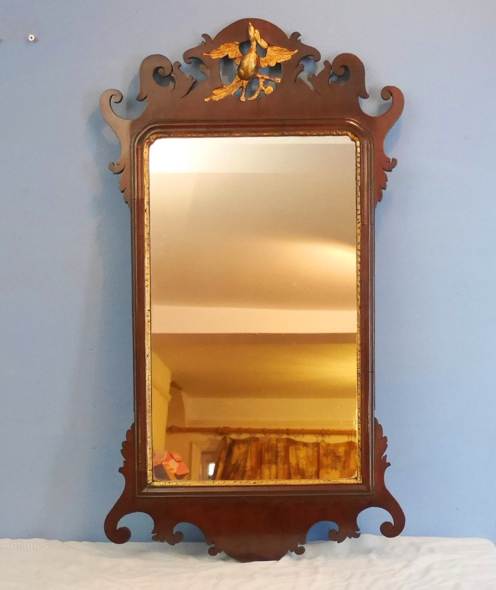 Antiques atlas georgian mahogany wall mirror for Antique wall mirrors