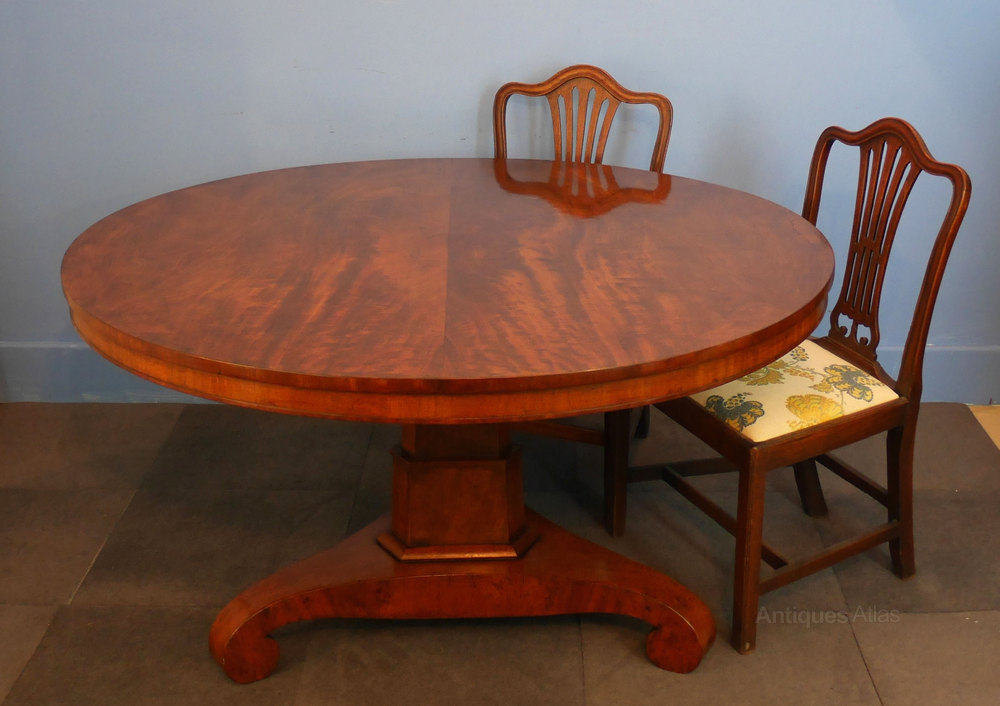 large circular mahogany dining table antiques atlas