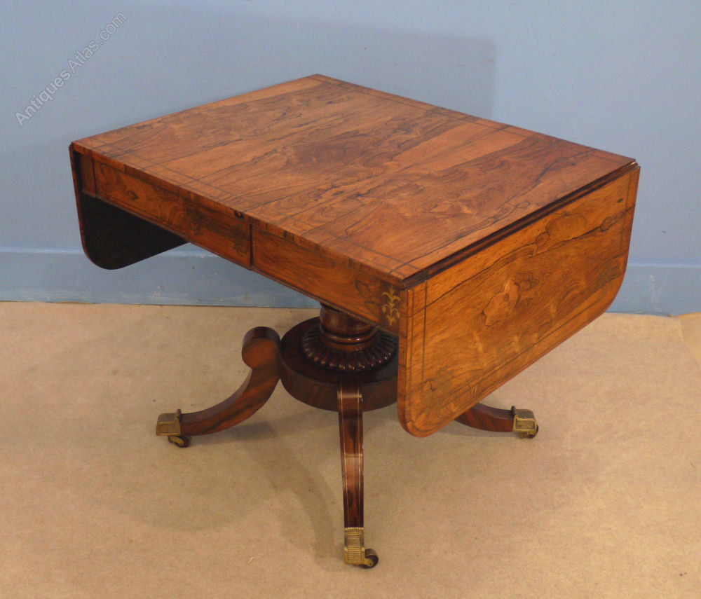 Regency rosewood sofa table antiques atlas for Sofa table antique