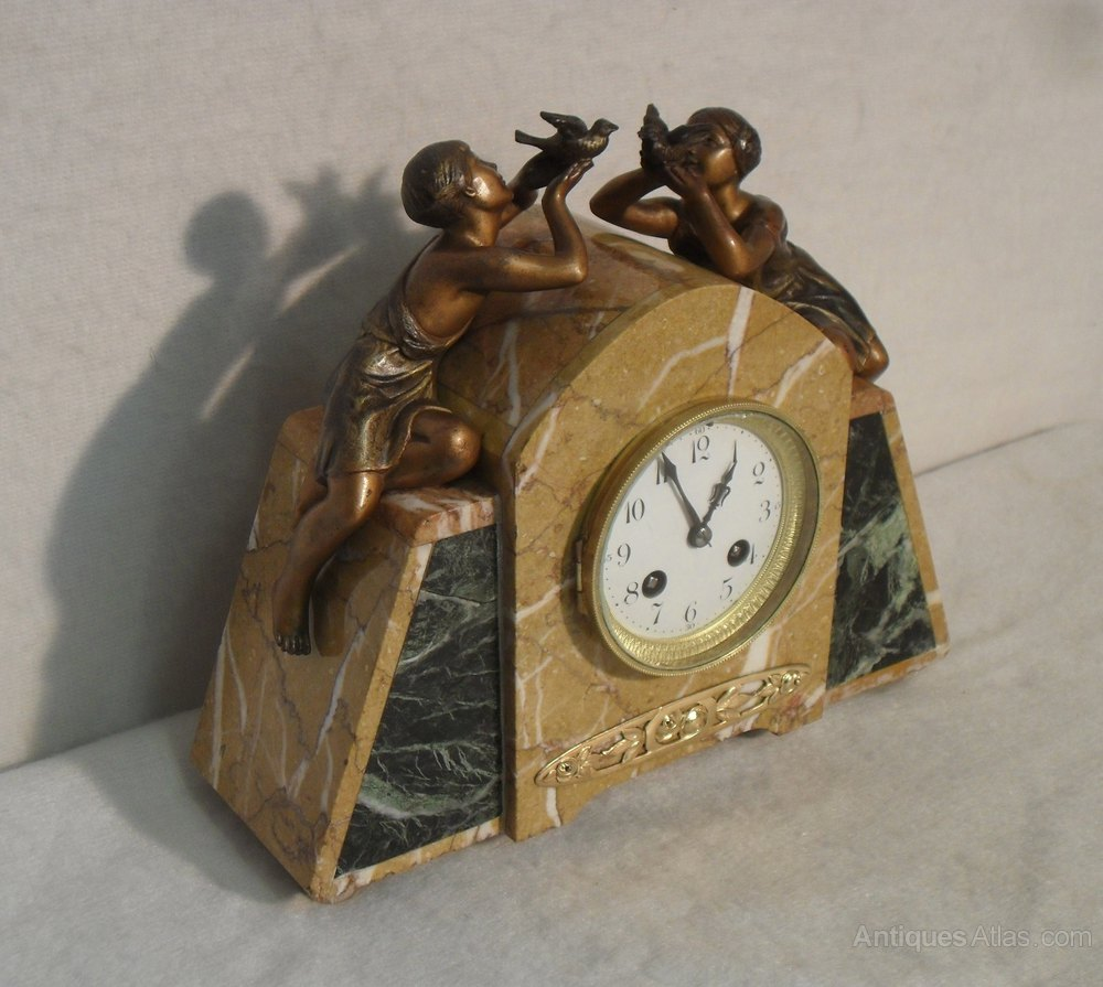 Antiques Atlas Art Deco Marble Mantel Clock