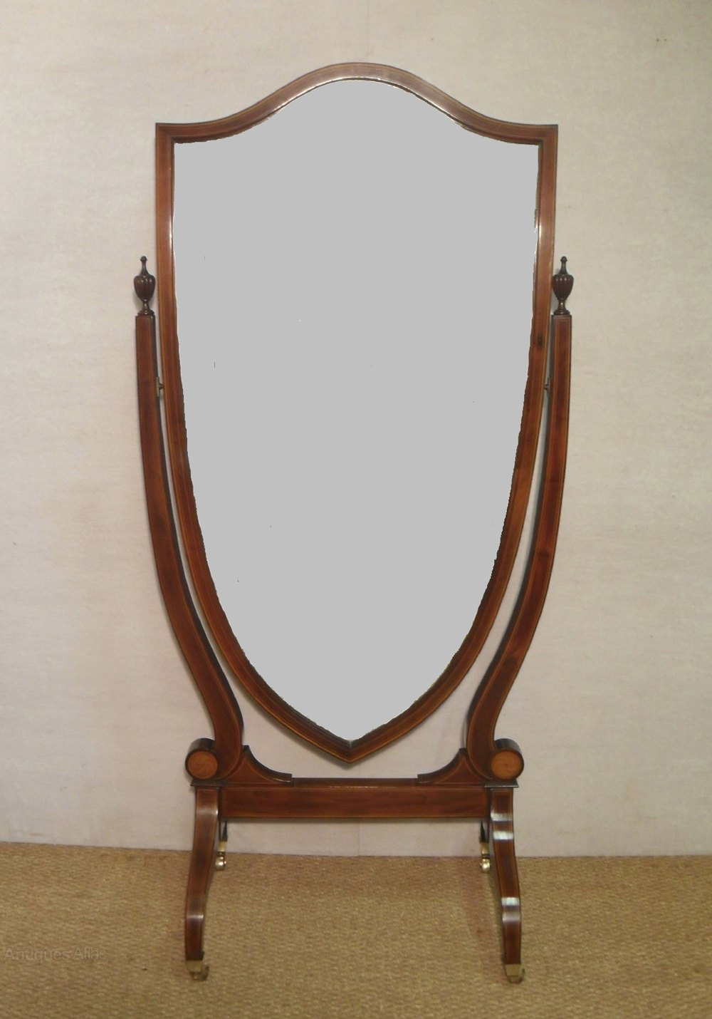 Antiques atlas edwardian cheval dressing mirror for Dressing mirror