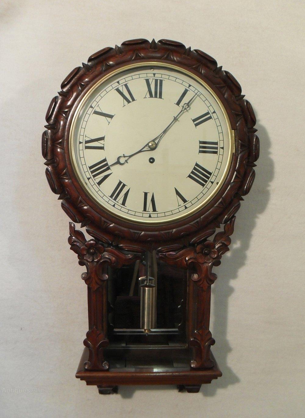 Antiques Atlas English Drop Dial Wall Clock