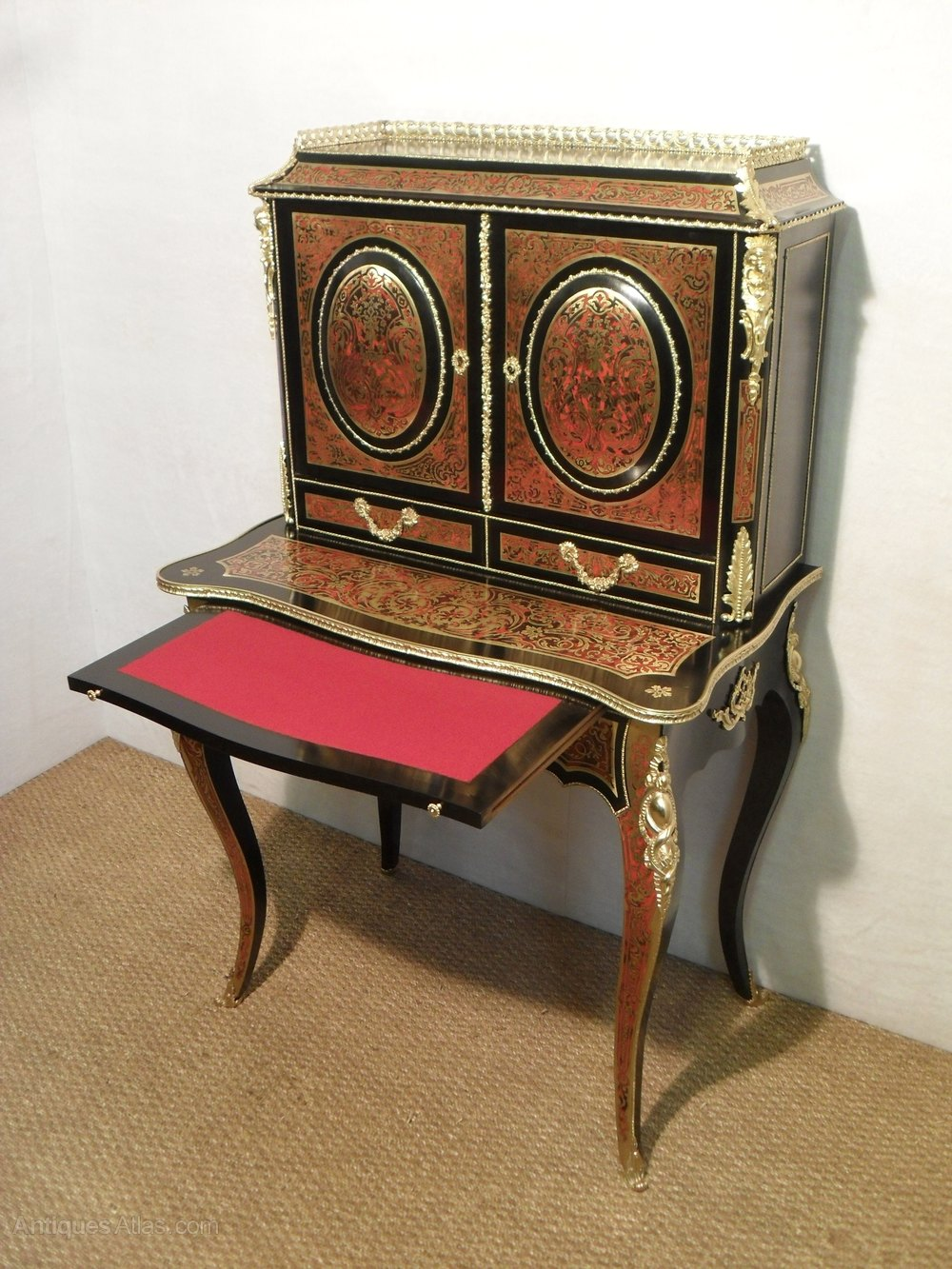 french boulle bonheur du jour antiques atlas. Black Bedroom Furniture Sets. Home Design Ideas