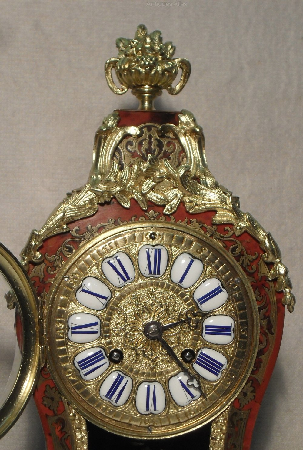 Antiques Atlas - French Boulle Mantel Clock