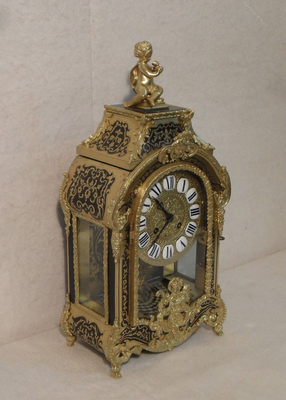 Antiques Atlas French Boulle Mantel Clock