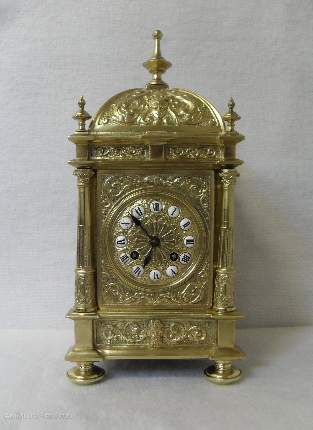 Antiques Atlas - French Brass Mantel Clock