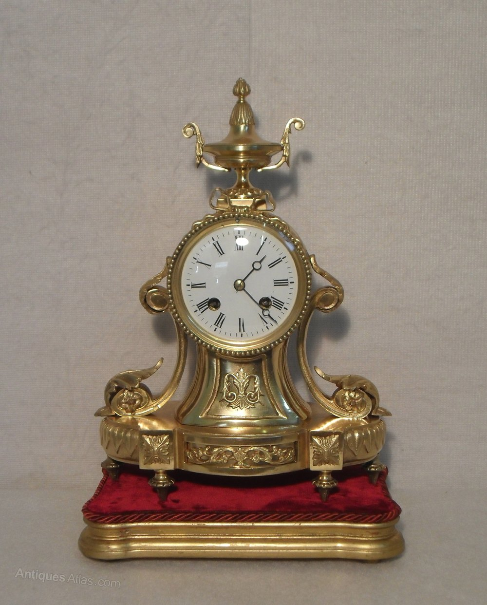 Antiques Atlas - French Clock On Base