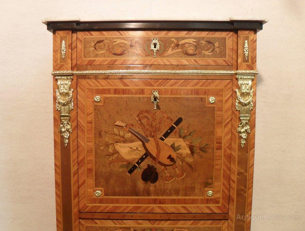 French Escritoire Writing Cabinet - Antiques Atlas