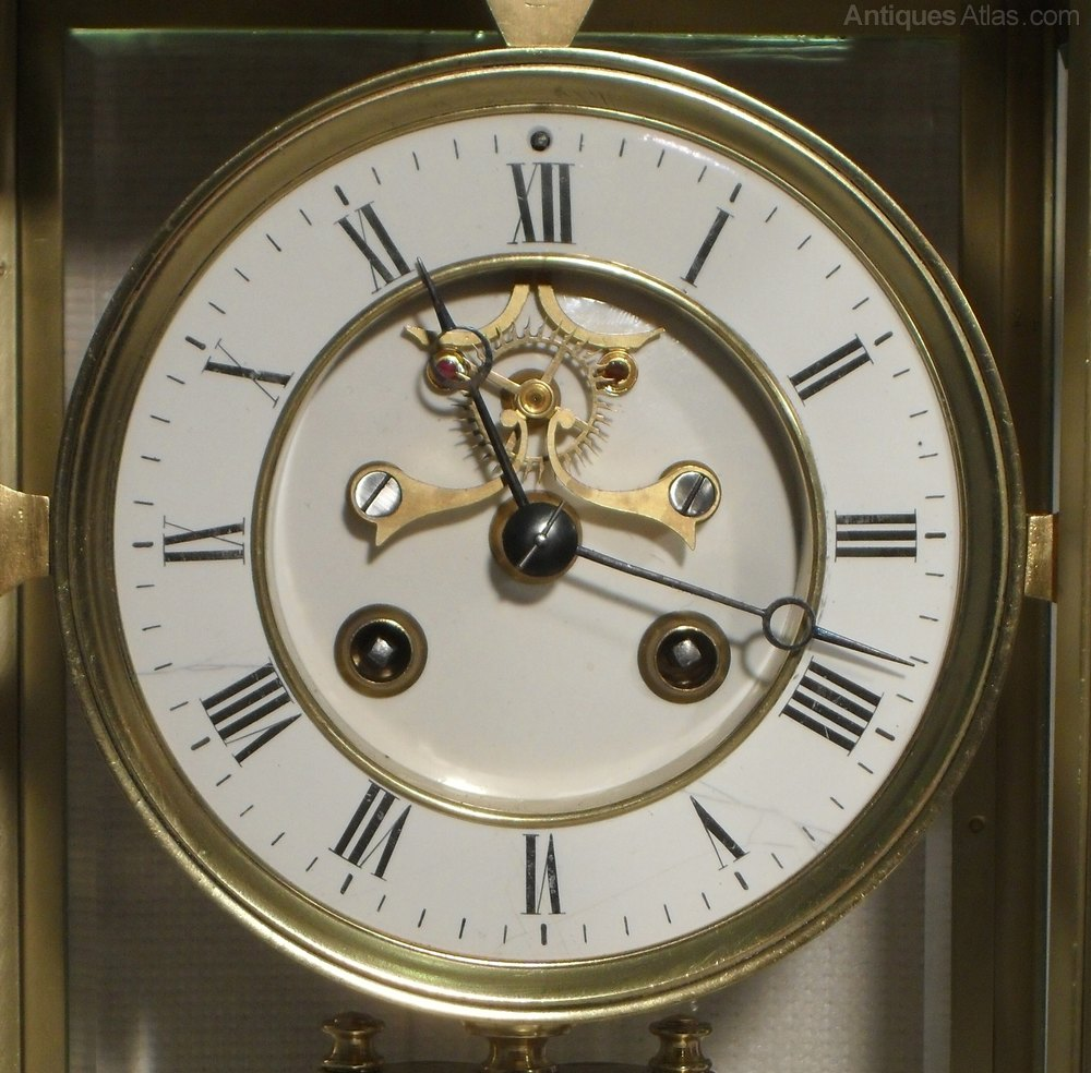 Antiques Atlas - French Four Glass Mantel Clock