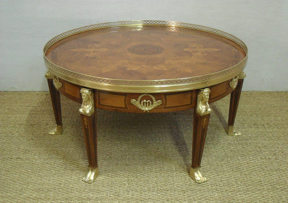 Antiques Atlas Walnut Inlaid Coffee Table